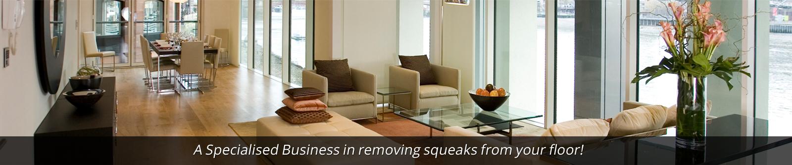 Squeaky Floors header image